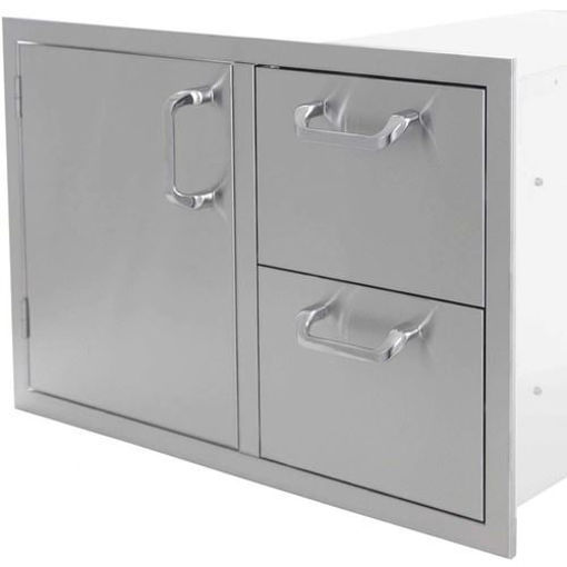 """Picture of PCM-260 30"""" Single Door / 2 Drawers"""