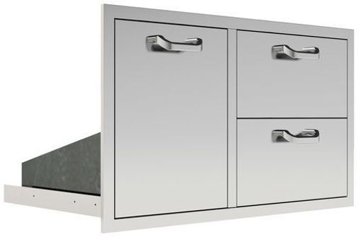 """Picture of PCM-260 36"""" Trash/Propane Rollout / 2 Drawers"""