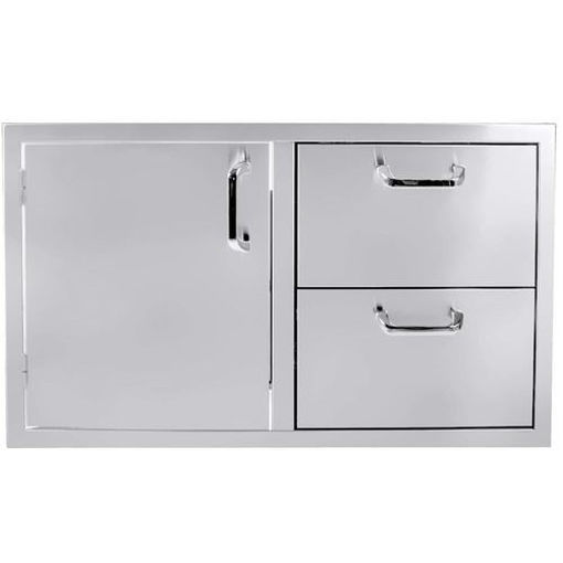 """Picture of PCM-260 42"""" Single Door / 2 Drawers"""