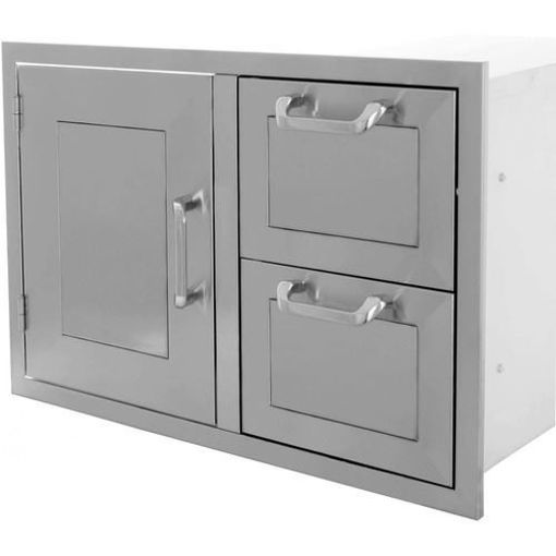 "Picture of PCM-260R 30"" Single Door / 2 Drawers"