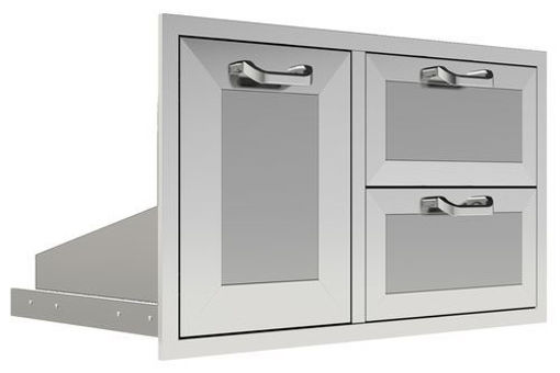 """Picture of PCM-260R 30"""" Trash/Propane Rollout/ 2 Drawers"""
