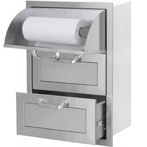 Picture of PCM-260R 17x24 Triple Access Drawer With Paper Towel Dispenser