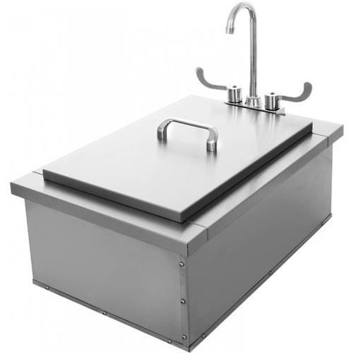 Picture of PCM-400 15x24 Insulated Sink with Condiment Tray