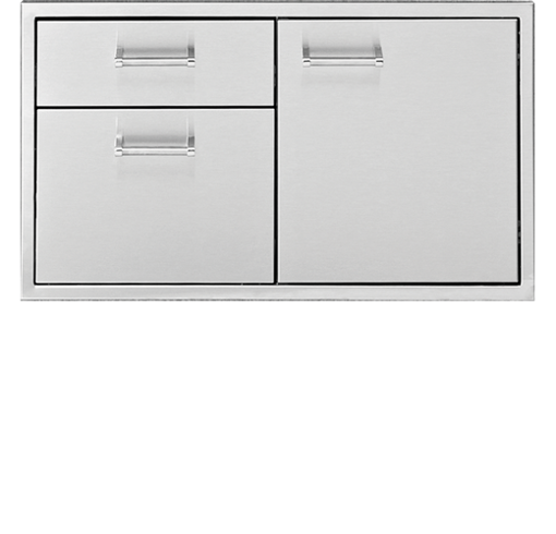 "Picture of 36"" Delta Heat Door & 2-Drawer Combo"