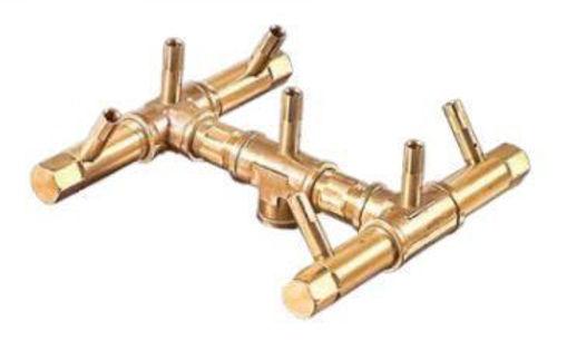"Picture of CFB84 Original CROSSFIRE Brass Burner + 1/2"" Flex Line Kit"
