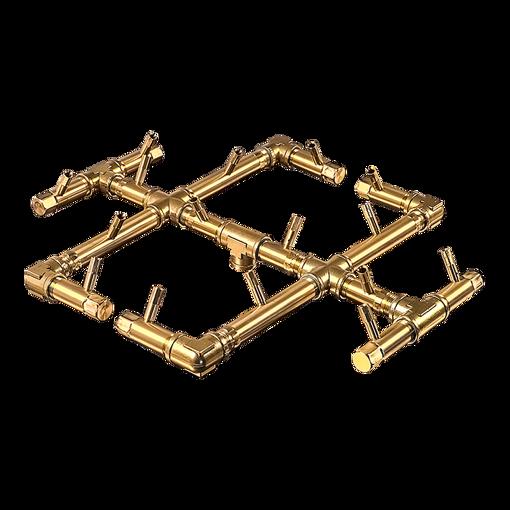 "Picture of CFB180 Original CROSSFIRE Brass Burner + 30"" Square Plate + 3/4"" Flex Line Kit + FIT180"