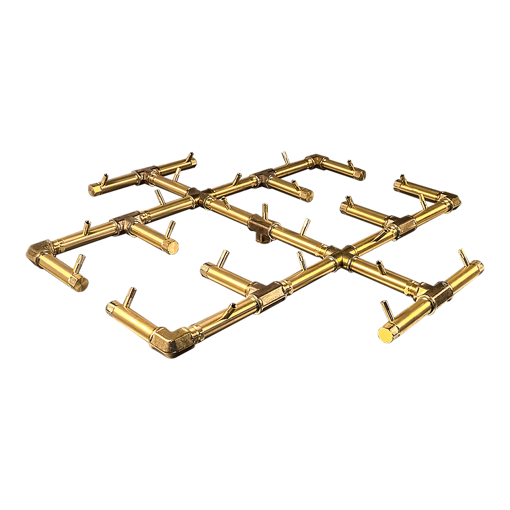 "Picture of CFB300 Original CROSSFIRE Brass Burner + 42"" Square Plate + 3/4"" Dual Flex Line Kit + FIT300"