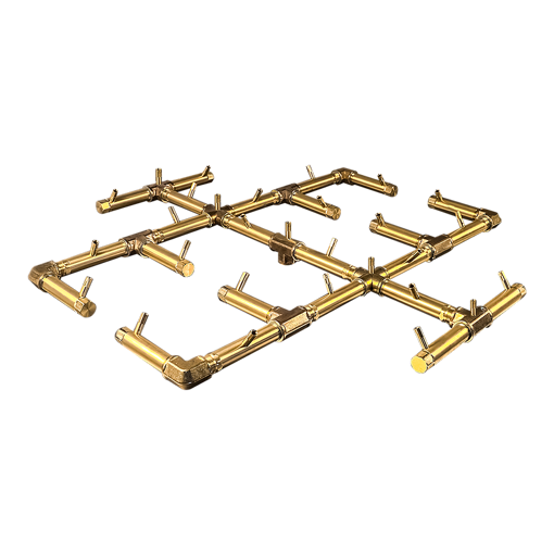 "Picture of CFB350 Original CROSSFIRE Brass Burner + 48"" Square Plate + 3/4"" Dual Flex Line Kit + KIT300"