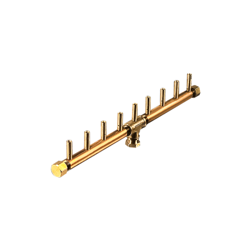 "Picture of CFBL90 Linear CROSSFIRE™ Brass Burner + 1/2"" Flex Line Kit"
