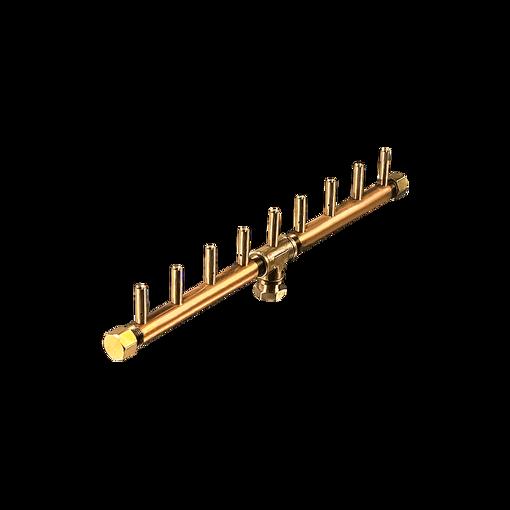 "Picture of CFBL90 Linear CROSSFIRE™ Brass Burner + 6"" x 26"" Plate + 1/2"" Flex Line Kit"