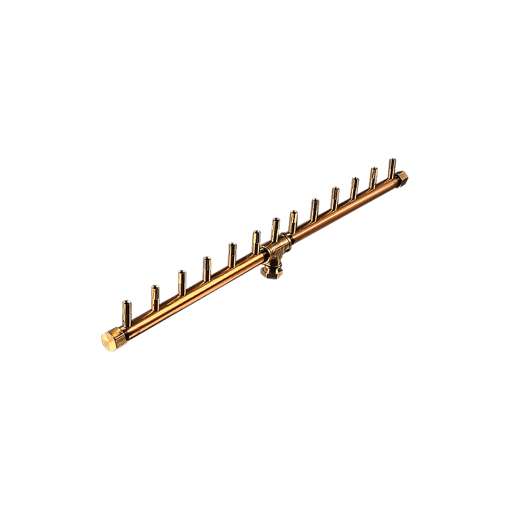 "Picture of CFBL130 Linear CROSSFIRE™ Brass Burner + 8"" x 22"" Plate + 3/4"" Flex Line Kit + FIT180"