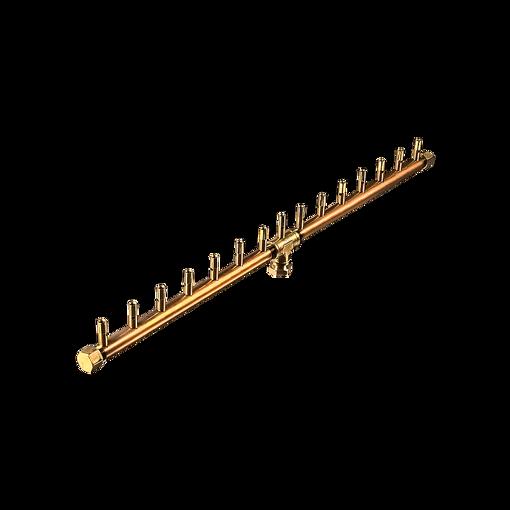 "Picture of CFBL150 Linear CROSSFIRE™ Brass Burnerr 150K BTU Brass Burner + 8"" x 38"" Plate"