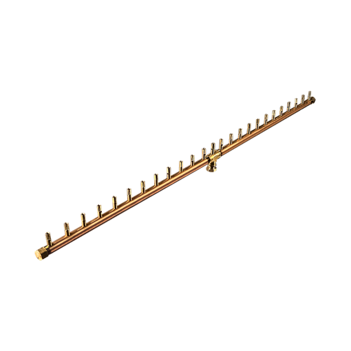 "Picture of CFBL250 50"" Linear CROSSFIRE™ Brass Burner + 10"" x 56"" Plate"