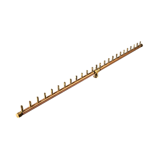 "Picture of CFBL250 50"" Linear CROSSFIRE™ Brass Burner + 10"" x 56"" Plate + 3/4"" Dual Flex Line Kit + FIT250"