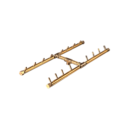 """Picture of CFBH160 H-Style CROSSFIRE™ Brass Burner + 3/4"""" Flex Line Kit + FIT180"""