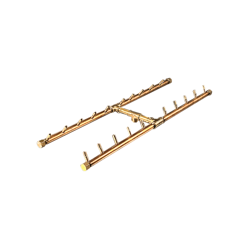 """Picture of CFBH200 H-Style CROSSFIRE™ Brass Burner + 3/4"""" Flex Line Kit + FIT180"""