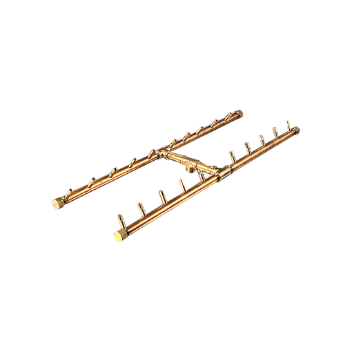 "Picture of CFBH200 H-Style CROSSFIRE™ Brass Burner + 17"" x 40"" Plate"
