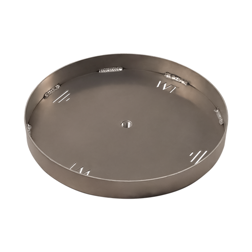 """Picture of 24"""" Circular 1/8"""" Aluminum Pan with Welded 2"""" Sidewall"""