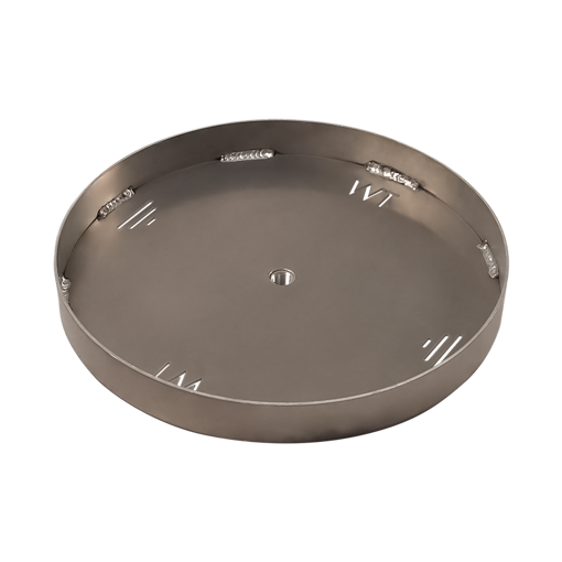 """Picture of 30"""" Circular 1/8"""" Aluminum Pan with Welded 2"""" Sidewall"""