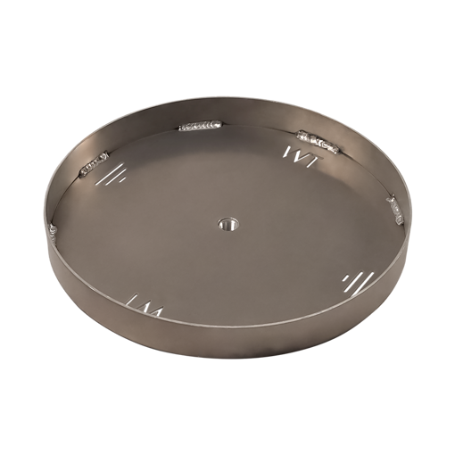 "Picture of 36"" Circular 1/8"" Aluminum Pan with Welded 2"" Sidewall"