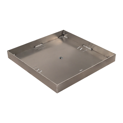"""Picture of 18"""" Square 1/8"""" Aluminum Pan with Welded 2"""" Sidewalls"""