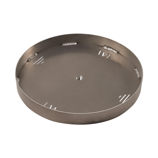 "Picture of 48"" Circular 3/16"" Aluminum Pan with Welded 2"" Sidewall"
