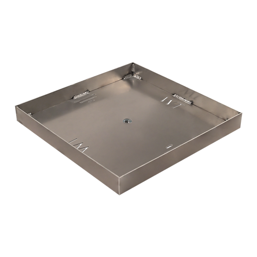 """Picture of 24"""" Square 1/8"""" Aluminum Pan with Welded 2"""" Sidewalls"""