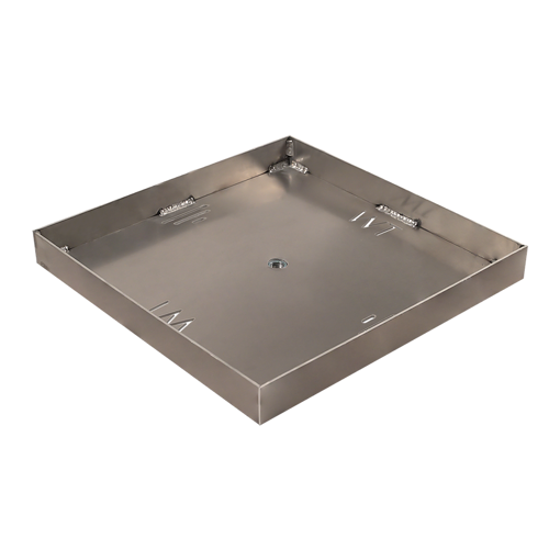 """Picture of 60"""" Square 3/16"""" Aluminum Pan with Welded 2"""" Sidewalls"""