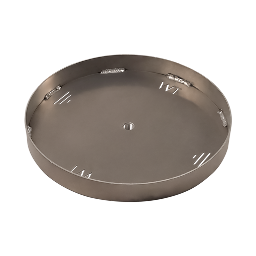 "Picture of 42"" Circular 1/8"" Aluminum Pan with Welded 2"" Sidewall"