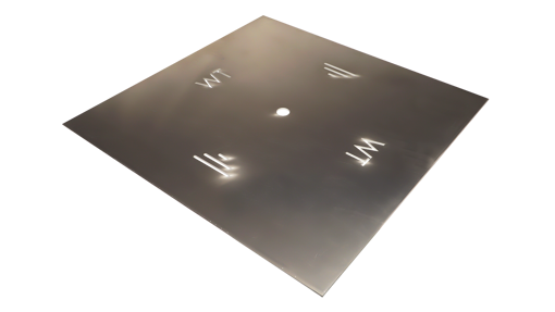 "Picture of 18"" Square 1/8"" Aluminum Plate"