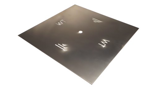 "Picture of 24"" Square 1/8"" Aluminum Plate"