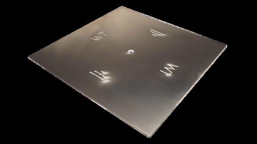"""Picture of 42"""" Square 3/16"""" Aluminum Plate"""