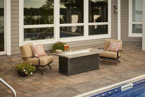 Picture of Cedar Ridge Linear Gas Fire Table by The Outdoor Greatroom Company