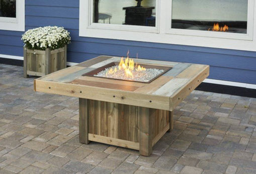 Picture of Vintage Square Gas Fire Pit Table by The Outdoor Greatroom Company