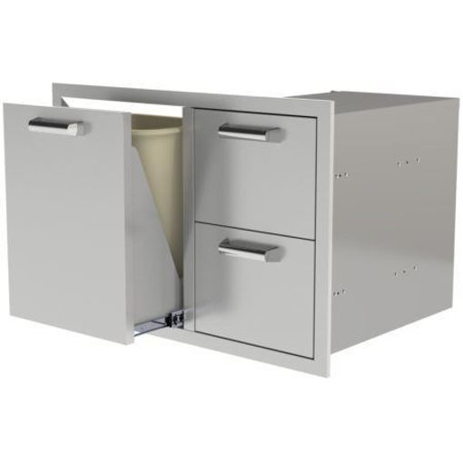 """Picture of PCM‐350H30""""TRASH/PROPANEROLLOUT/2DRAWERS"""