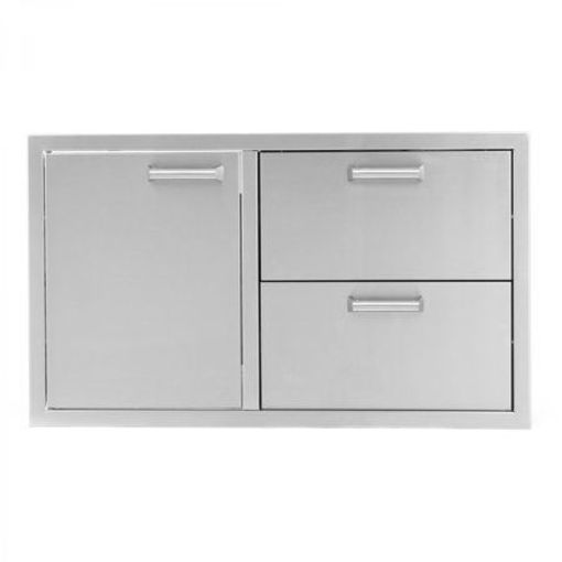 "Picture of PCM‐350H 36"" SINGLE DOOR/ 2 DRAWERS"