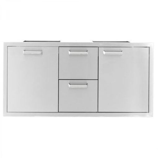 "Picture of PCM‐350H 42"" SINGLE DOOR/2 DRAWERS/ TRASH ROLLOUT (TRIPLE COMBO)"