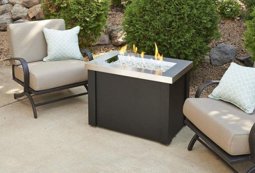 Picture of Stainless Steel Providence Rectangular Gas Fire Pit Table