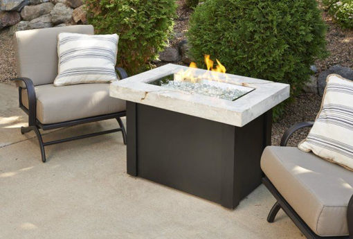 Picture of White Providence Rectangular Gas Fire Pit Table