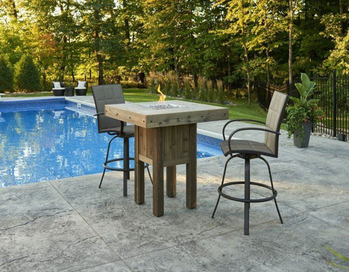 Picture of Westport Square Pub Height Gas Fire Pit Table by The Outdoor Greatroom Company