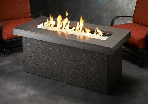 Picture of Grey Key Largo Linear Gas Fire Pit Table by The Outdoor Greatroom Company