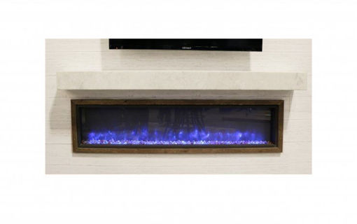 Picture of Non-Combustible White Supercast Modern Mantel