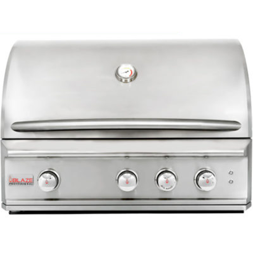 Picture of Blaze Professional 34-Inch 3 Burner Built-In Gas Grill With Rear Infrared Burner