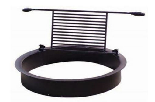 Picture of Round Fire Pit w/ Flip Grill