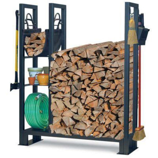 Picture of Utility Outdoor Wood Rack With Shelves