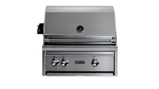 """Picture of 27"""" PROFESSIONAL BUILT IN GRILL WITH 1 TRIDENT INFRARED BURNER AND 1 CERAMIC BURNER AND ROTISSERIE (L27TR)"""