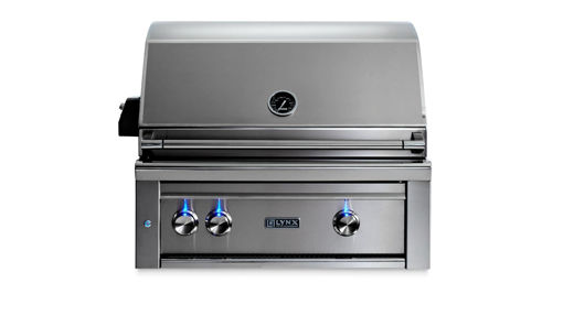 "Picture of 30"" PROFESSIONAL BUILT IN GRILL WITH 1 TRIDENT INFRARED BURNER AND 1 CERAMIC BURNER AND ROTISSERIE (L30TR)"