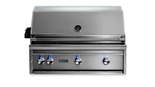 """Picture of 36"""" PROFESSIONAL BUILT IN GRILL WITH 1 TRIDENT INFRARED BURNER AND 2 CERAMIC BURNERS AND ROTISSERIE (L36TR)"""