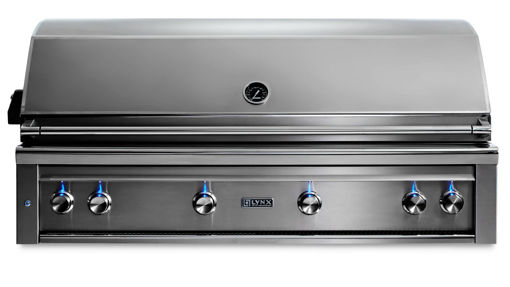 "Picture of 54"" PROFESSIONAL BUILT-IN GRILL WITH 1 TRIDENT INFRARED BURNER AND 3 CERAMIC BURNERS AND ROTISSERIE (L54TR)"