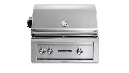 "Picture of 30"" SEDONA BUILT-IN GRILL WITH 2 STAINLESS STEEL BURNERS AND ROTISSERIE (L500R)"